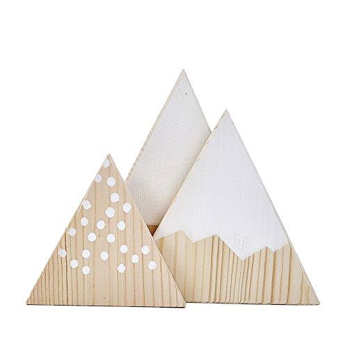 steellwingsf 3/Set Nordic Mountain Stil Triangle Form Kinder Schlafzimmer Dekoration Ornaments, holz, weiß, Einheitsgröße