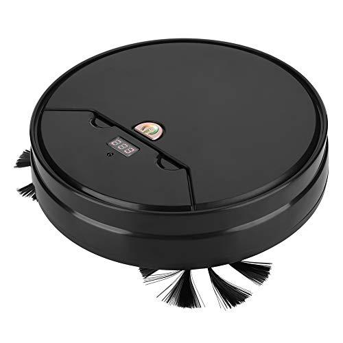 Aspiradora, robot eléctrico inteligente de barrido doméstico, ajuste de velocidad barredora de suelo para limpieza de hogar (negro)
