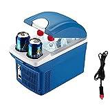 H.Slay Refrigerador para automóvil, refrigerador portátil, Caja de Aislamiento más Fresco, Mini refrigerador pequeño para automóvil, azul-8L