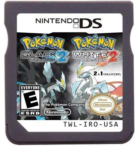 New Pokemon Black Version 2 White Version 2 Games Card 2 In 1 USA Reproduction Version For Nintendo DS
