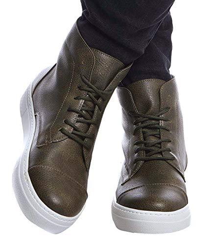 Leif Nelson Herren Schuhe Klassische Stiefel Freizeitschuhe Boots Elegante Winterschuhe Männer Sneakers LN158; 44, Khaki