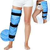 REVIX Large Ice Pack for Injuries Reusable Gel Ice Wrap for Leg, Hip, Thigh, Knee and Shin Splint, Cold Compress for Pain Relief After Surgery, Injury Recovery, Swelling, Bruises with 3 Straps