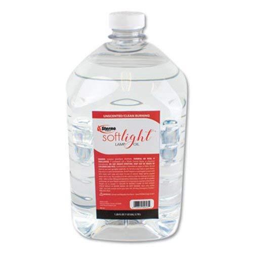 STERNO GROUP Soft Light Liquid Wax Lamp Oil, Clear, Gallon, 4 Per Carton