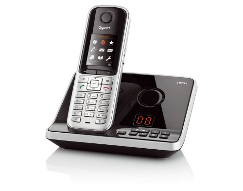 Gigaset S810A Dect-Schnurlostelefonmit Anrufbeantworter, incl. Headset, stahlgrau
