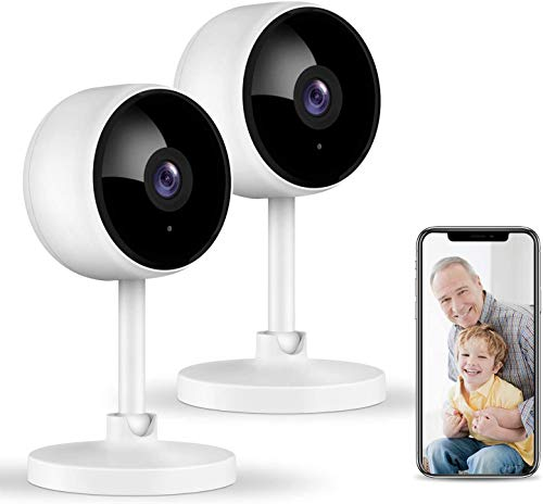 Surveillance Cameras with Night Vision Motion Detection Home Camera WiFi Camera Security Camera Indoor 2-Way Audio Only 2.4G WiFi Works with Alexa Mibao Baby Monitor