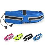 SPFASZEIV wasserdichte Laufgürtel für Handy Schlüssel Hüfttasche, Verstellbar Hüfttasche,Lauftasche mit Kopfhöreröffnung für Jogging Fitness Gürtel