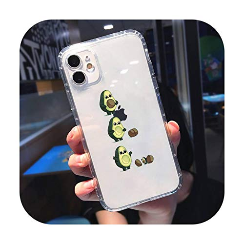 Caja transparente para iPhone 11 12 mini pro XS MAX 8 7 6 6S Plus X 5S SE 2020 XR-a10-iphone7or8