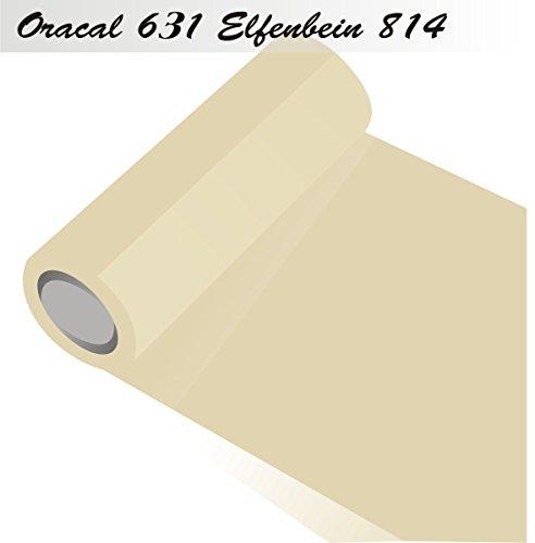 Oracal 631 - Orafol matt - für Küchenschränke und Dekoration Folie 5m Rolle - 31,5 cm Folienhöhe - 814-Elfenbein - Markierungen, Beschriftungen und Dekorationen - Klebefolie - Plotterfolie - Wandschutzfolie - Möbelfolie - Fahrzeugfolie - selbstklebend - Küchenfolie - Dekofolie - Möbel - Aufkleber - Folie