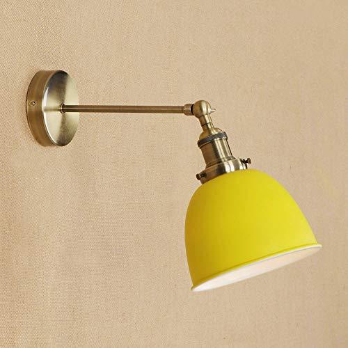 Ganeep Verstelbare kleur Loft industrie wandlampen Vintage enkele kop nachtwandlamp metalen lampenkap E27 Edison lampen 110 V / 240 V