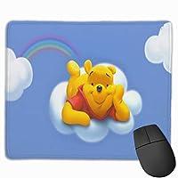 プーさん マウスパッド ゲーミング オフィス最適 高級感 おしゃれ耐久性が良 付着力が強い30x25x0.3cm