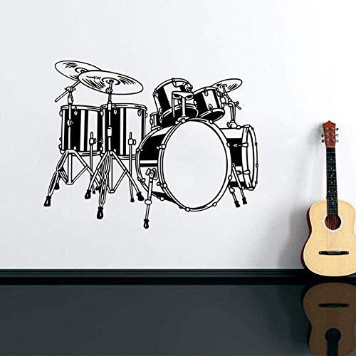 Wandtattoo Musikinstrumente Schlagzeug Set Wandaufkleber Musik Wallpaper Für Kinder Schlafzimmer Gute Dekoration Vinyl Art 42x53cm