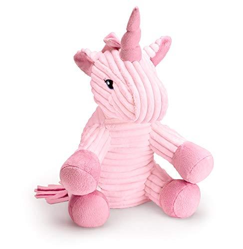 """Mousehouse Gifts - Unicornio de peluche de pana - Rosa - 25,4cm (10"""")"""