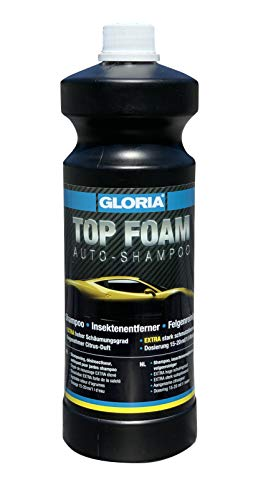 Gloria TOP FOAM Autoshampoo | Reinigungsmittel für die Autoreinigung | Kraftvolles Konzentrat | Hoher Schäumungsgrad | 1 L Inhalt