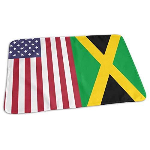 Kotdeqay Premium Wickelauflagen für Babywindelfor Infant Flag of Jamaica Portable Urine Pads 65 x 80 cm