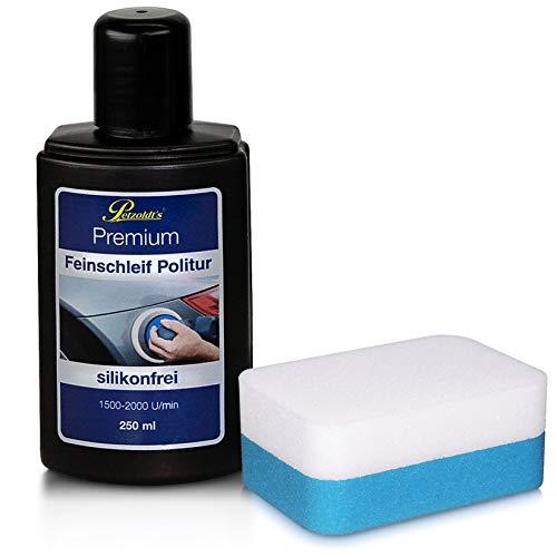 Petzoldt\'s 250 ml Premium Feinschleif Politur mit Schwamm, entfernt feine Kratzer und Schleifspuren