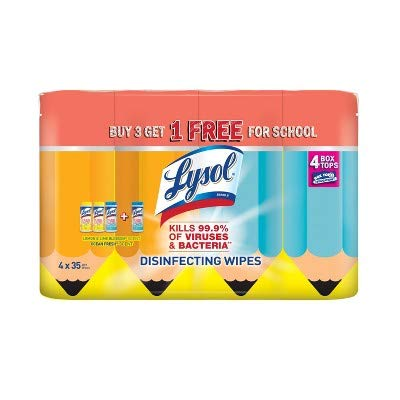Lysol Disinfecting Wipes Kills Viruses and Bacterias, Lemon Lime and Ocean Fresh Scent, Great Disinfectant for Home, Office, School, Total 140 Wipes