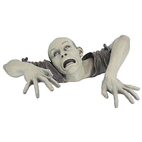 Design Toscano The Zombie of Montclaire Moors Garden Statue Halloween Decoration, 31 Inch, Polyresin, Full Color