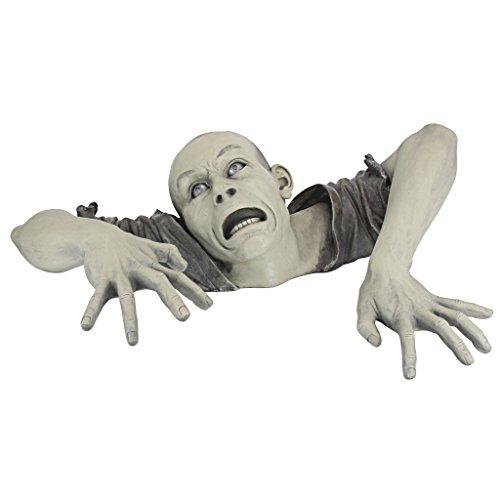 Design Toscano The Zombie of Montclaire Moors Garden Statue Halloween Decoration, 31 Inch,...