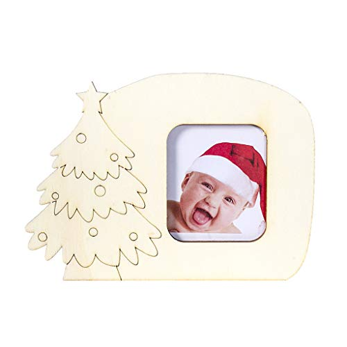 Photo Album  New Wooden Christmas Photo Frame Decorations Photo Ornament Table Decor Home & Garden Home Decor Christmas for Faclot