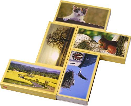LK Trend & Style 3 verpakkingen à 50 stuks XXL lucifers landleven grillaansteker met 100 mm lengte / brandhout met dier en landschap motieven