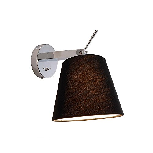 Montage mural Lampe Pixi, 60 W, E27, 220–240 V, IP20 Noir Classe d'efficacité énergétique : A + + – E