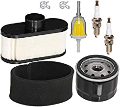 HIFROM Air Filter Pre Filter Cleaner Oil Fuel Filter Spark Plug Tune Up Kit Replacement for Cub Cadet LTX1050 RZT50 RZT54 Lawn Mower Engine Replace 11013-7047 49065-7002