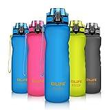 SHENKEYBouteille d'eau de sport,600ml/800ml/1L Bouteilles d'eau anti-fuites en plastique réutilisables, écologiques et sans BPA avec filtre, idéales pour le cyclisme, la course et la randonnée