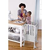 Guidecraft Contemporary Kitchen Helper Stool and 2 Keepers - Gray: Adjustable Height Wooden Step...
