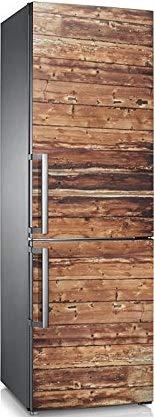 Arte del refrigerador puerta de la cubierta del papel pintado Frutas Hortalizas 3D auto adhesivo Lavavajillas Nevera Freeze Etiqueta Niños Pegatina (Color : Dark Khaki, Sticker Size : 100x180cm)