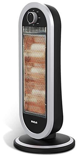 RCA RC-H3 Calefactor de Aire Eléctrico para Ambiente, Color Gris, Pack of/Paquete de 1