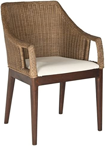 Best Safavieh Home Collection Enrico Arm Chair, Brown