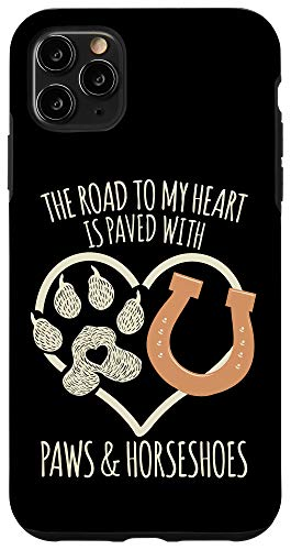 iPhone 11 Pro Max Horse & Dog Lover Meme Quote - Cute Gifts For Women & Girls Case