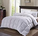 C&W White Goose Down Comforter King Size,60oz Fill Weight,750 Fill Power,100% Cotton Shell,Goose