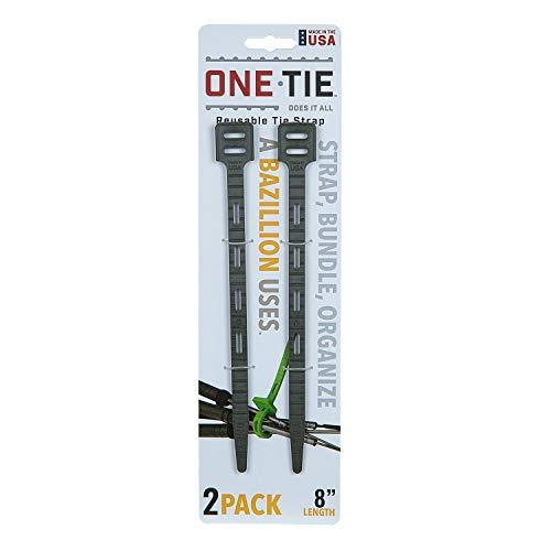 ワンタイ(One Tie) アウトドア 多機能 ストラップ ワンタイ 8インチ(20cm) 【2本セット】 ダークグリーン