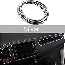 ZESI Chrome Interior Decoration Beeding for Car AC Vents and Dashboard (5 Meter) Decoration Strip Moulding Chrome