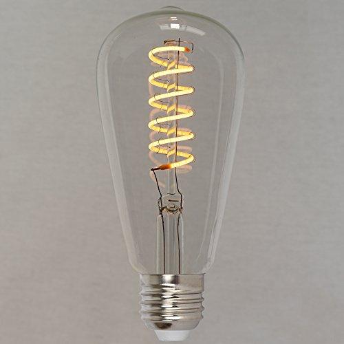 Dimmbares Vintage LED Edison Leuchtmittel 4W (40W) - Retro Vintage Industriell Stil Glühbirne 'Spiral' 64mm - The Retro Boutique ®