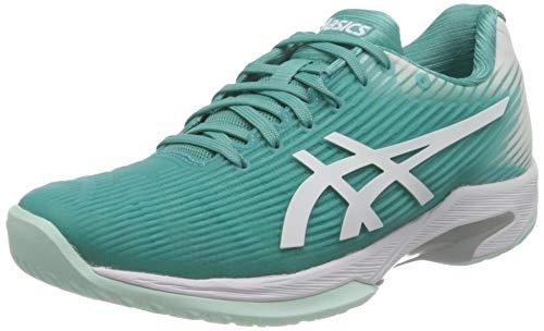 ASICS Solution Speed FF, Scarpe da Tennis. Donna, Techno Ciano Bianco, 37 EU