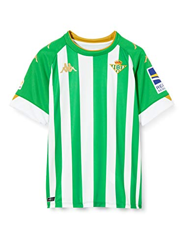 Kappa Primera Equipacion Kombat Betis Camiseta 8 FEKIR, Hombre, Verde/Blanco, L