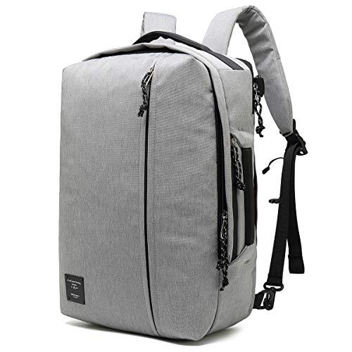 Bebamour Laptop Rucksack 17 Zoll mit USB Ladeanschluss Wasserdicht College School Rucksack Fluggeprüft Handgepäck Multifunktionaler Business Travel Daypack für Männer Frauen, Grau