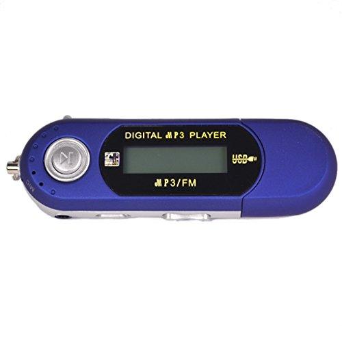 Desconocido USB 2.0 MP3 Reproductor de Música Grabación con Función FM Radio Ebook Capacidad Memoria 8GB / 4GB - Azul, 8GB