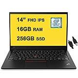 "Flagship 2021 Lenovo ThinkPad X1 Carbon Gen 7 Business 14 Laptop 14"" FHD IPS Display 8th Gen Intel 4-Core i7-8665U 16GB RAM 256GB SSD Backlit KB USB-C Dolby Win10 Black + iCarp HDMI Cable"