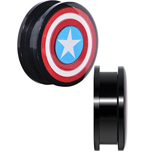 BodyCandy Schraubverschluss-Set Captain America, 2,5 cm