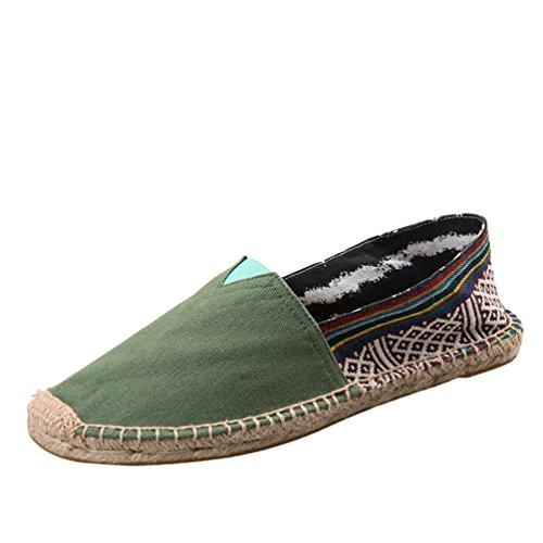 Dooxii Unisex Hombre Mujer Amantes Ocasionales Loafer Zapatos Moda Planos Alpargatas 41(25.5cm)