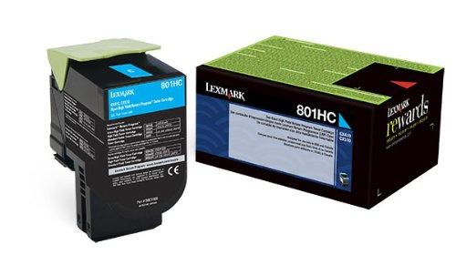 LEX80C1HC0 - Lexmark 801HC Cyan High Yield Return Program Toner Cartridge