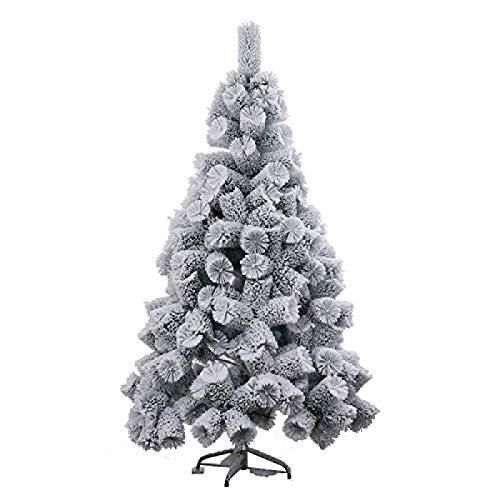 HACSYP Weihnachtsbaum Künstlich 150cm Weiß Künstlicher Schnee scharte Weihnachtsbaum PVC Metallträger Weihnachtsbaum Schnee-Effekt for Weihnachtsdekoration