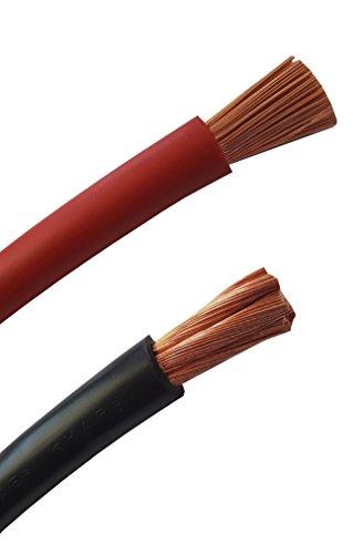 Batteriekabel auf den Meter genau! ROT (+) & SCHWARZ (-) als Kombi H07V-K 2,5/4 / 6/10 / 16/25 / 35/50 oder 70 mm² (mm2) Batterie Kabel 100% OFC Kupfer – Meterware bis 50 Meter je Typ