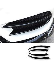 NA 4 Piezas Parachoques Delantero Separador de Labios Spoiler ABS Accesorios para Mercedes Benz Clase C W205 C180 C200 C220 C250 C300 C350 C400 C450 AMG C43 C63 2015-2018