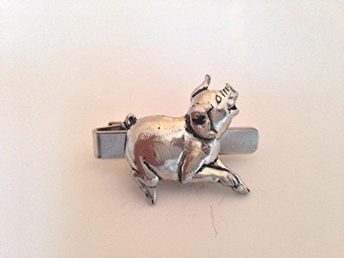 A39 Course Pig English Pewter emblème sur une pince à cravate 4 cm fait à la main à Sheffield Livré avec prideindetails Boîte Cadeau