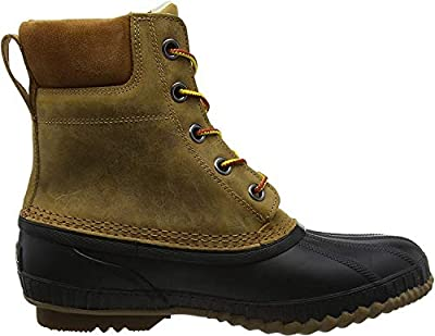 Sorel Men's Cheyanne II Snow Boot, Chipmunk, Black, 8 D US