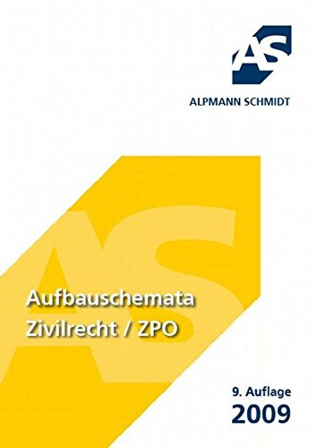 Aufbauschemata Zivilrecht / ZPO: BGB, Zivilprozessrecht, Handelsrecht, Gesellschaftsrecht, Arbeitsrecht, Allgemeines Gleichbehandlungsgesetz